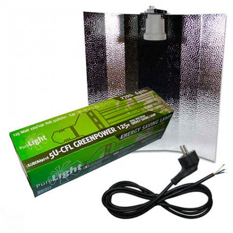 KIT PURE LIGHT CFL 125W GREENPOWER MIXTA (2700K-6400K)