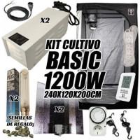 KIT CULTIVO INTERIOR BASIC 1200W ARMARIO 240X120X200CM