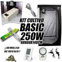 KIT CULTIVO INTERIOR BASIC 250W ARMARIO 60X60X140CM