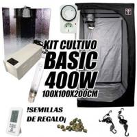 KIT CULTIVO INTERIOR BASIC 400W ARMARIO 100X100X200CM