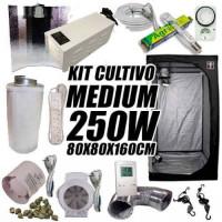 KIT CULTIVO INTERIOR MEDIUM 250W ARMARIO 80X80X160CM-22