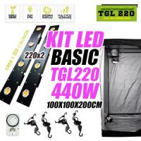 KIT LED CULTIVO BASIC TGL 220 X2 440W (ARMARIO 100X100X200)