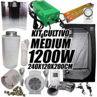KIT CULTIVO INTERIOR MEDIUM 1200W ARMARIO 240x120x200
