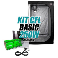 KIT CULTIVO INTERIOR BASIC CFL 250w ARMARIO 80X80cm