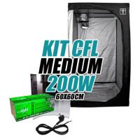 KIT CULTIVO INTERIOR MEDIUM CFL 200w ARMARIO 60X60cm