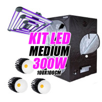 KIT LED CULTIVO MEDIUM 300W (ARMARIO 100X100X200)