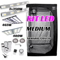 KIT LED CULTIVO MEDIUM (ARMARIO 120X120X200)