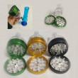 GRINDER CON RECIPIENTE METAL + PLASTICO 3 PARTES 56X90MM
