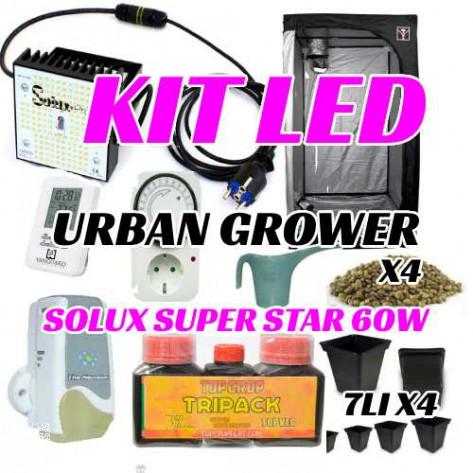 KIT LED CULTIVO URBAN GROWER SOLUX 60W-36