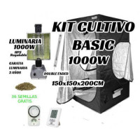 KIT CULTIVO INTERIOR BASIC 1000W ARMARIO 150x150x200CM