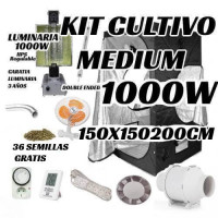 KIT CULTIVO INTERIOR MEDIUM 1000W ARMARIO 150x150x200CM